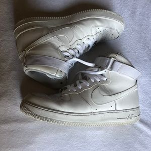 AIR FORCE 1 Men's size 13 White Hi-Top